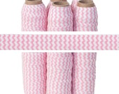 """Baby Pink Chevron - Fold Over Elastic - 5/8"""" Wide - 5 YARDS"""