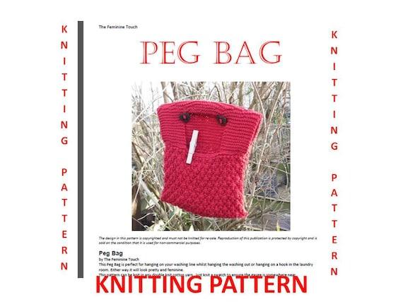 Knitting Pattern For A Peg Bag : Knitting Pattern , Digital PDF file, instant download ...
