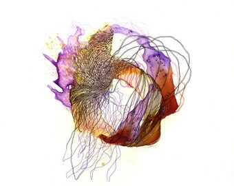 """Element IV - Giclee print - 8.5"""" x 11"""" / organic art print / contemporary art / watercolor abstract painting"""