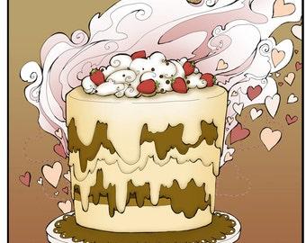 Love Cake- A Romantic Comedy Coloring Book