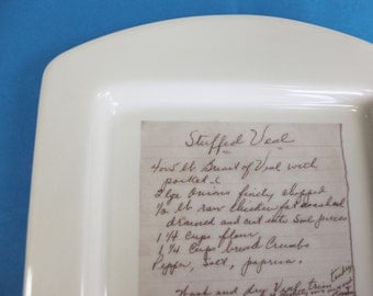Custom Recipe Platter with Your Handwritten Family Recipe