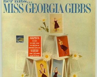 Her Nibs - Miss Georgia Gibbs - Great Female Vocalist- Vintage Vinyl Record Album,  1966 Sunset LP