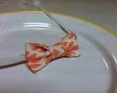 Mini Fabric Bow Baby Headband / Coral