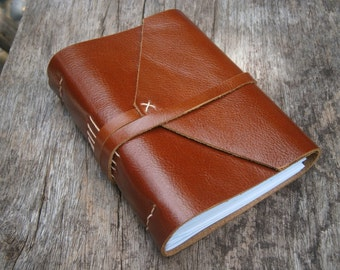 Old Times Leather Journal / Pocket Book / LINED or plain paper