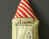 Nursery Decor Pillow - Large House toy - Softie - Plushy - Soft Toy