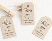 Wedding Favors, Personalized Gift Tag with Thank You for Bridal Shower Favor, Party Favor Tags, Gift Labels - Set of 25 (SMGT-GAB) thx