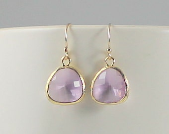 Purple Earrings, Light Purple Earrings, Lavender Earrings, Bridal Earrings, Bridesmaid Earrings, Bridal Jewelry, Bridesmaid Gift, Lilac