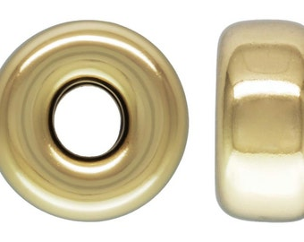 14Kt Gold Filled 4mm Roundel 1.2mm Hole - 20pcs (4449) 10% discounted Made in USA