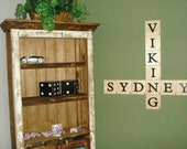 3.5 Inch Extra Large Giant Scrabble Pieces Tiles Wall Hanging Art