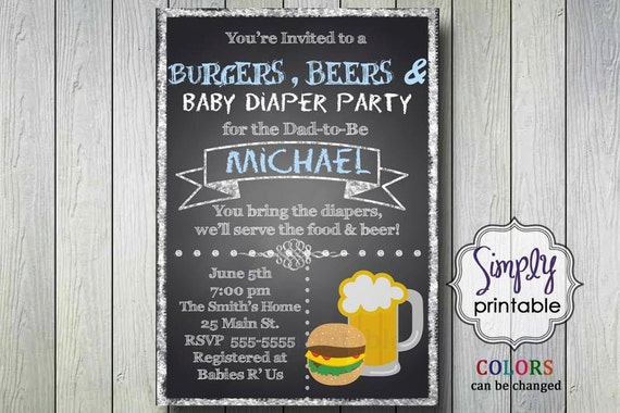 Beer & Diaper Invitation