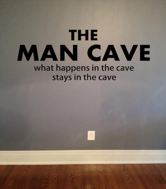Man Cave Vinyl Wall Art : The man cave vinyl lettering wall words decal mancave decor