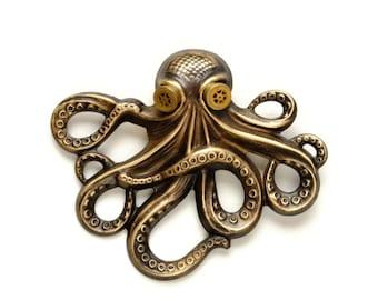 Steam Punk Jewelry Steampunk Hat Pin Octopus Kraken Cthulhu Pin Steampunk Goggles Pirate Steampunk Jewelry By Victorian Curiosities