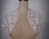 White Lace Bridal Shrug Jacket