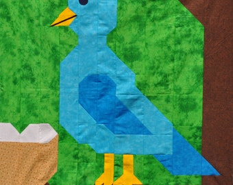 Blue Bird Quilt pattern with multiple sizes