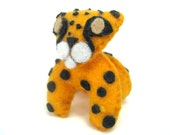 Cheetah Plushie Totem--miniature kawaii plush spotted cat stuffed animal
