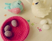 Crochet Pattern - Bird amigurumi toy and baby mobile PDF - Instant DOWNLOAD