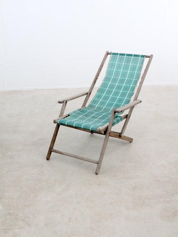 Vintage Deck Chair Striped Beach Chair