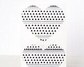 20 Heart Label Stickers- Geometric Hearts