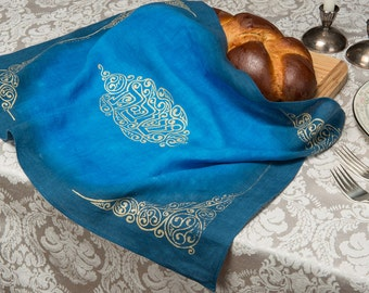 Challah Cover, Hand-dyed, Silkscreened