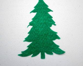 12 Large Christmas Trees - Felt Christmas Trees -  Die Cut Felt Shapes