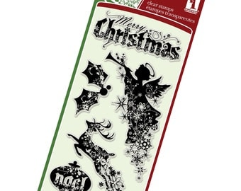 Clear Christmas Stamps from Inkadinkado - Christmas Silhouettes