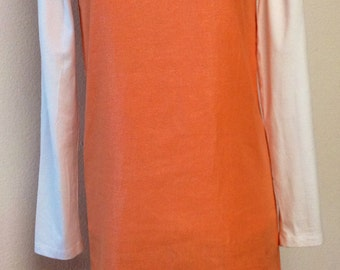 Orange Linen V-Neck Tunic with Slight Silver Shimmer Small/Extra Small