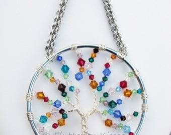 Tree of Life Suncatcher - Custom Birthstone