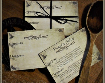 The Kitchen Witch - Set of 12 Recipe Cards