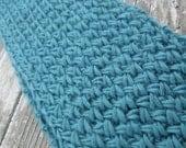 Hand Knit Scarf, Knit Scarf, Cross Stitch Scarf