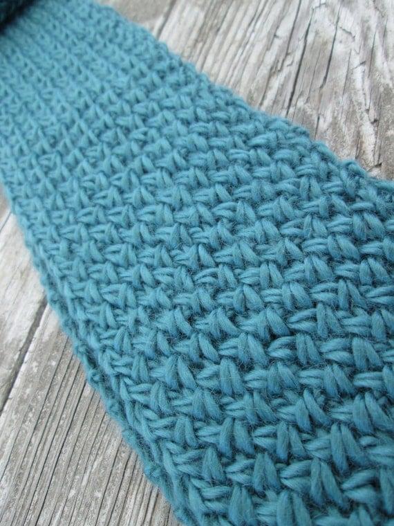 Hand Knit Scarf Knit Scarf Cross Stitch Scarf