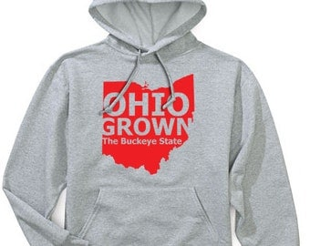 Ohio Grown the Buckeye State Hoodie Hooded Sweatshirt by NIFTshirts
