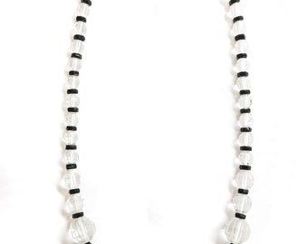 Gorgeous Crystal and Onyx Art Deco necklace