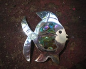 Large Hecho En Mexico Abalone Fish Pin