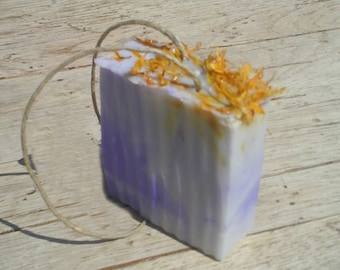 Lavender Orange Rope Soap - Now 20% LARGER - Hemp Soap on a Rope  - Hemp Oil All Natural Aromatherapy Soap - Moisturizing Lather