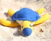 Blue and Yellow Turtle Plush