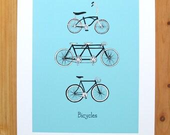 Bicycle Art Print 8.5 x 11