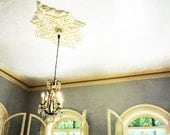 Vintage Chandelier Architecture / Moody Photography / Fine Art Photography 8x12