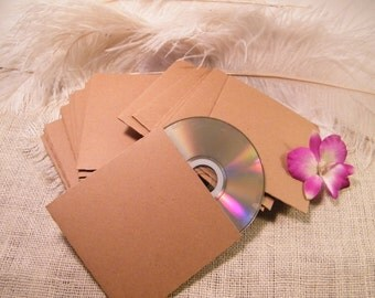 SaLe 12 Kraft CD Jackets / Favor  Case / CD Sleeve / Natural Recycled Blank Cardboard / Wedding CD Favor Sleeve / Last SeT