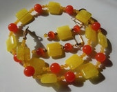 Sunshine Jade set necklace and earrings S628