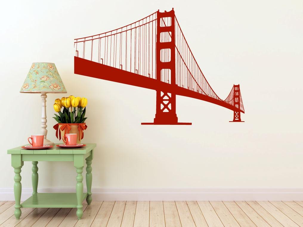 Large Golden Gate Bridge Vinyl Wall Decal San Francisco Urban