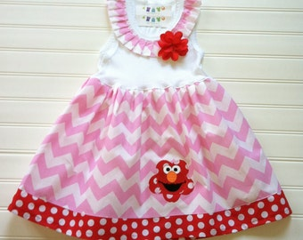 Custom Boutique Pink Chevron Dress Empire Dress Chevron Dress Girls Dresses Baby Dress Girls Clothing Available 0-3 months through Size 6/8