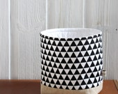 Fabric Storage Basket Modern Black and White