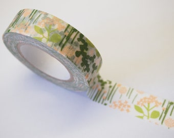 15M ten to sen Washi Tape - little garden
