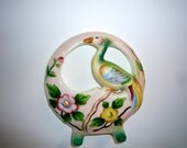 Reserved for Andrea. 1940 made in japan hand painted bird wall pocket