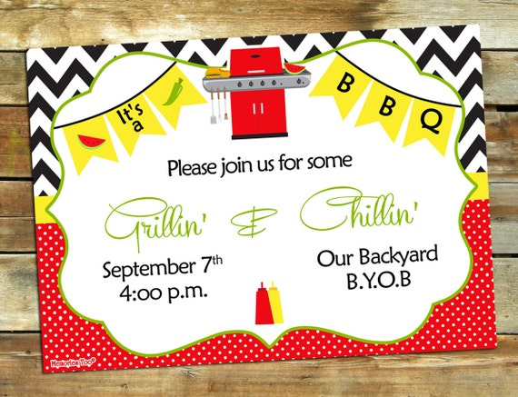 Stupendous image in free printable cookout invitations