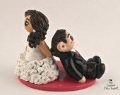 Custom Wedding Cake Topper Bride and Groom