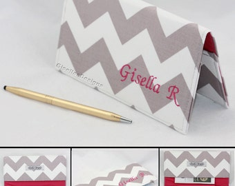 Personalized Checkbook cover /Chevron Checkbook case / Custom made Checkbook cover
