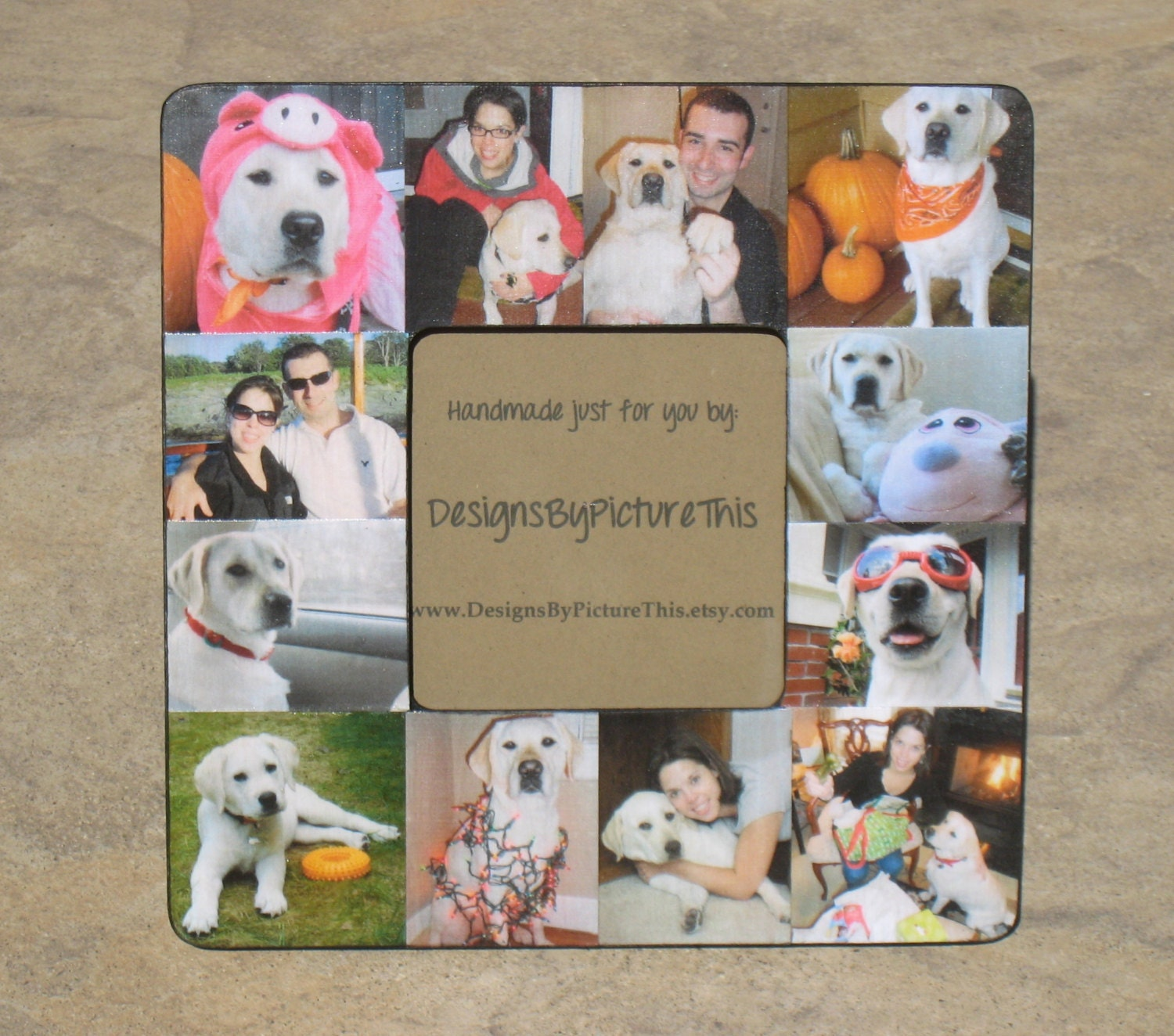 Pet Memorial Frame Personalized Pet Collage Picture Frame