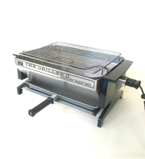 Small Electric Griller ~ Regal griller ii mini tabletop smokeless electric grill used