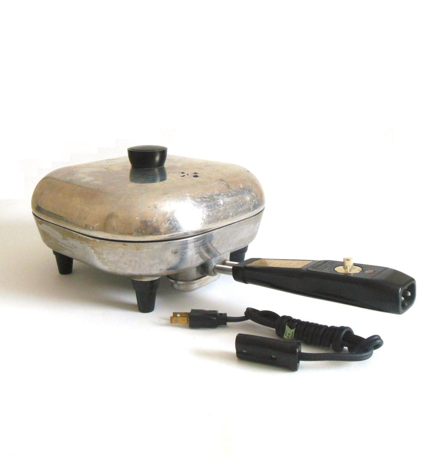 Electric Frying Pan ~ Small sunbeam electric frying pan skillet kitchen appliance